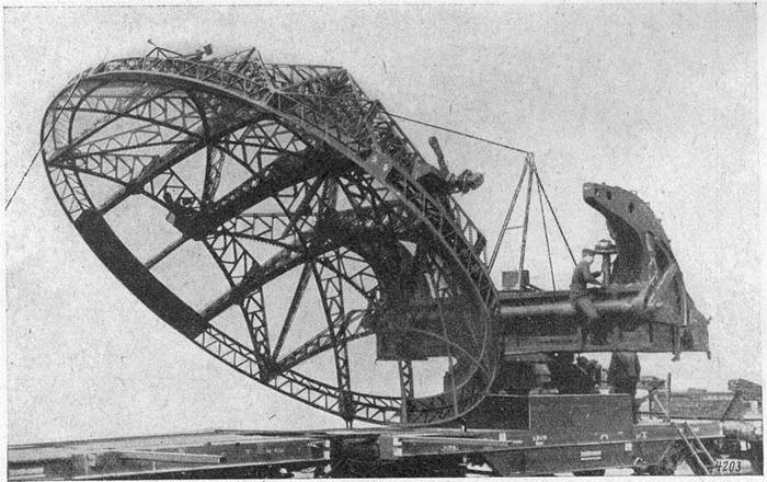 Würzburg Riese Radar in opbouw